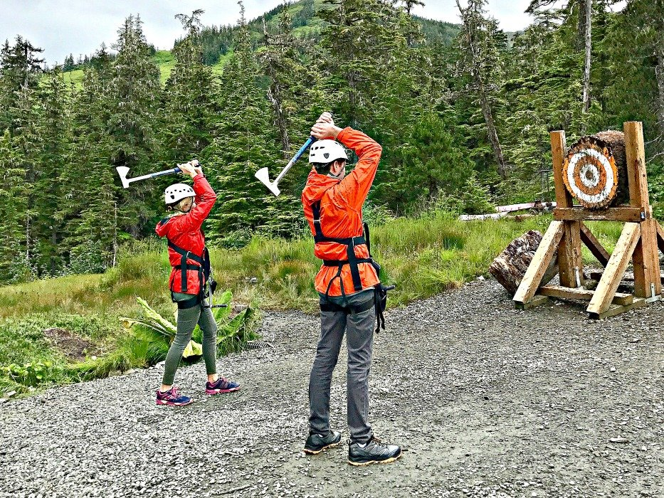 Alaska summer trip Ax throwing
