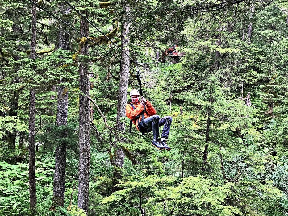 Alaska summer trip Juneau Zipline
