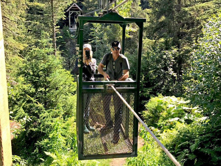 Girdwood Alaska summer trip hand tram