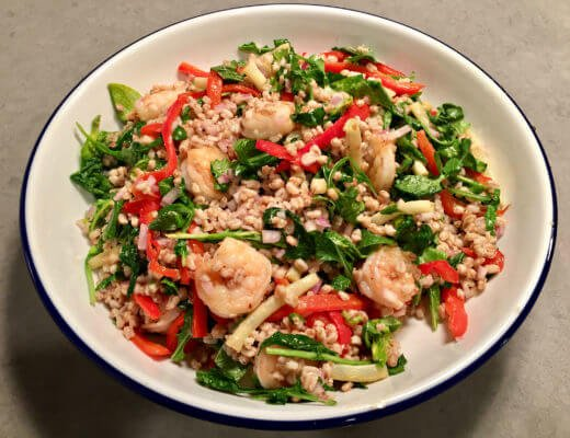 Shrimp and Farro Bowl