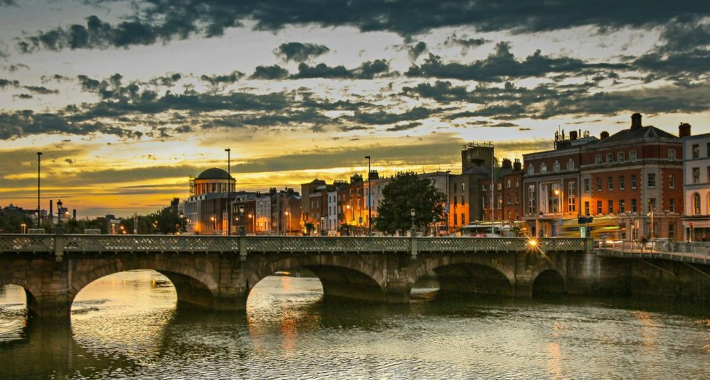 Ireland Vacation Dublin Bridge