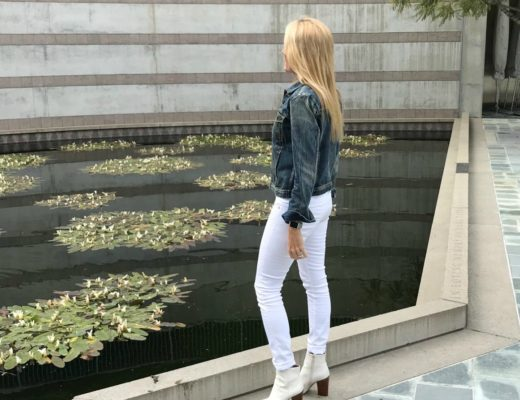 Jean Jacket White Boots