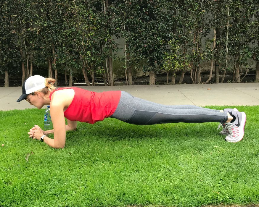 Stairs Workout Planks