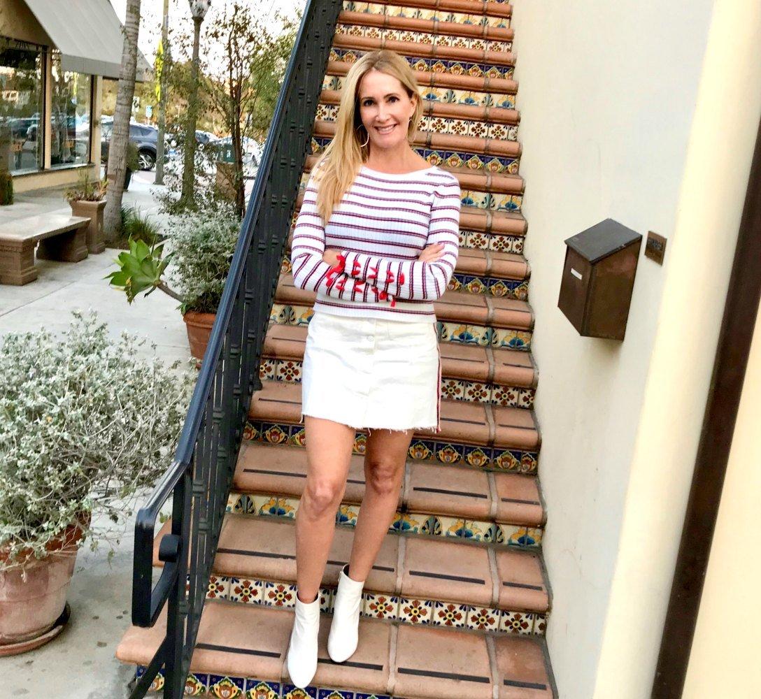 White Boots White Skirt