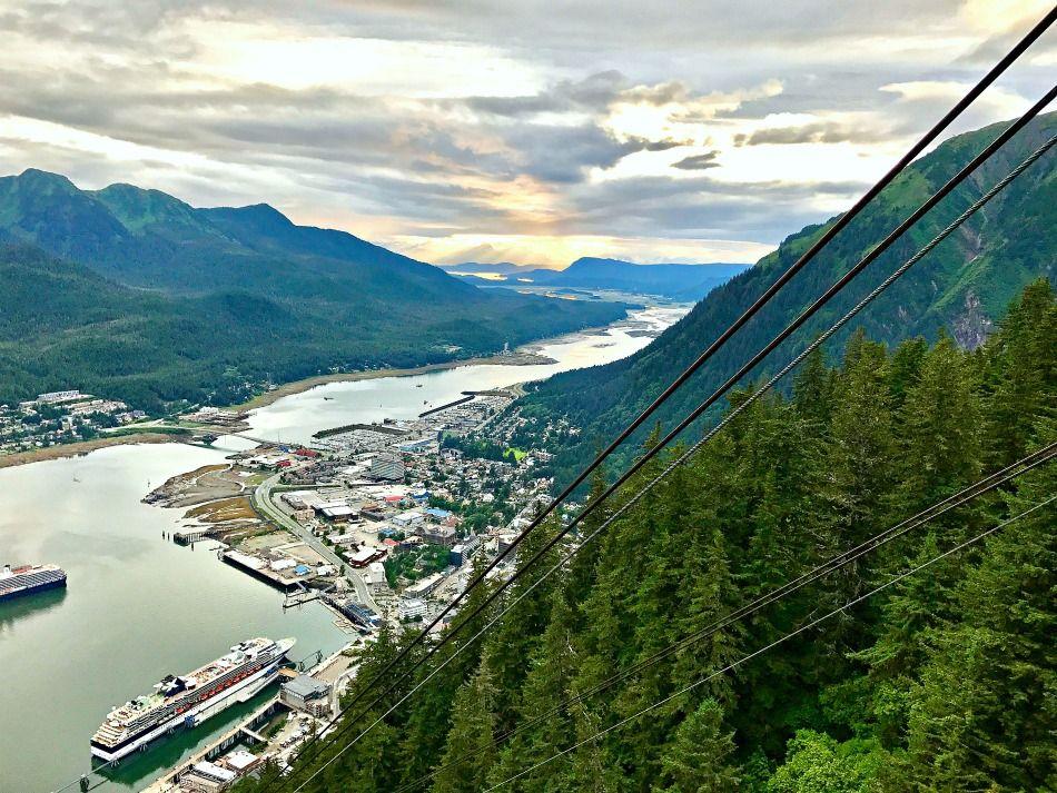 Alaska summer trip Juneau tram