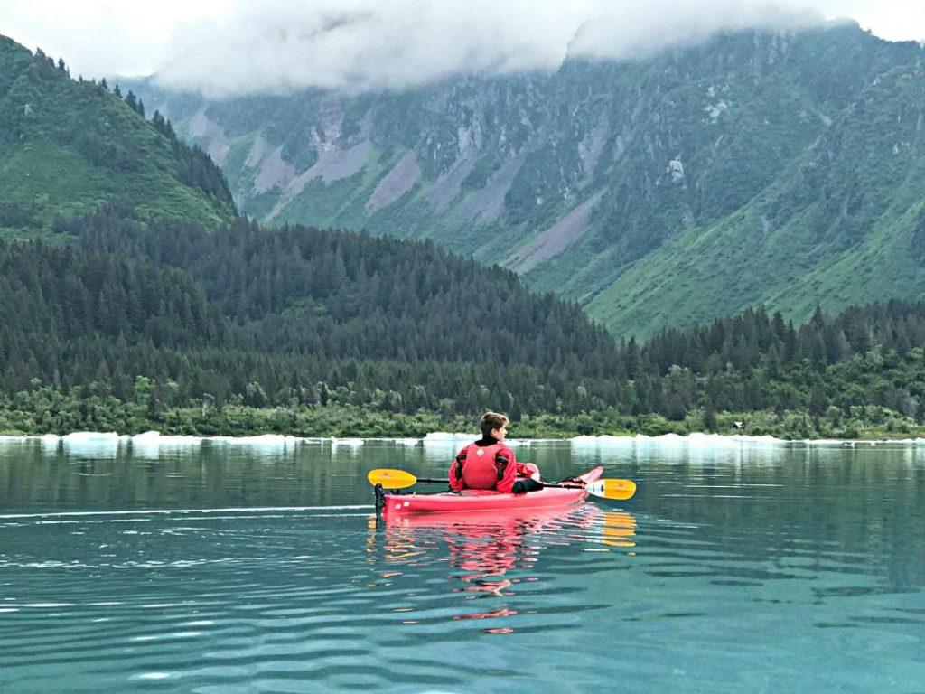 Alaska summer trip Riley kayak