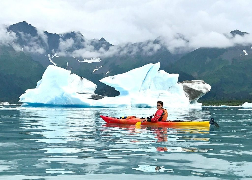 Bear Glacier iceberg kayaking