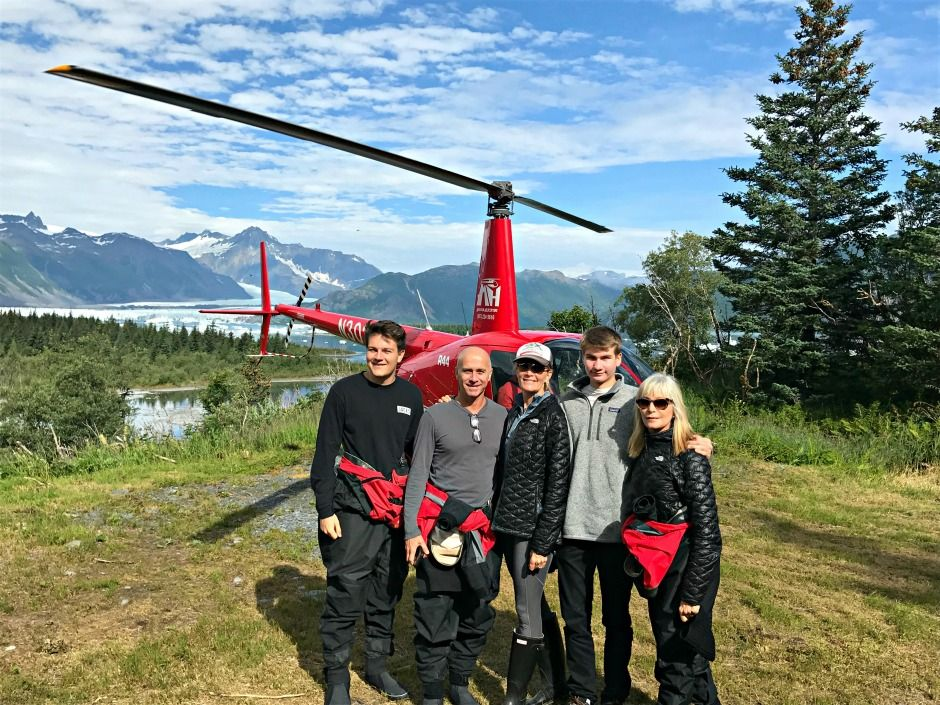 Alaska summer trip helicopter group