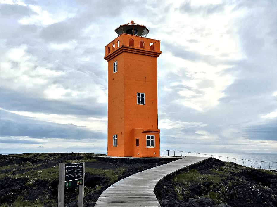 Iceland-vacation-Orange-lighthouse