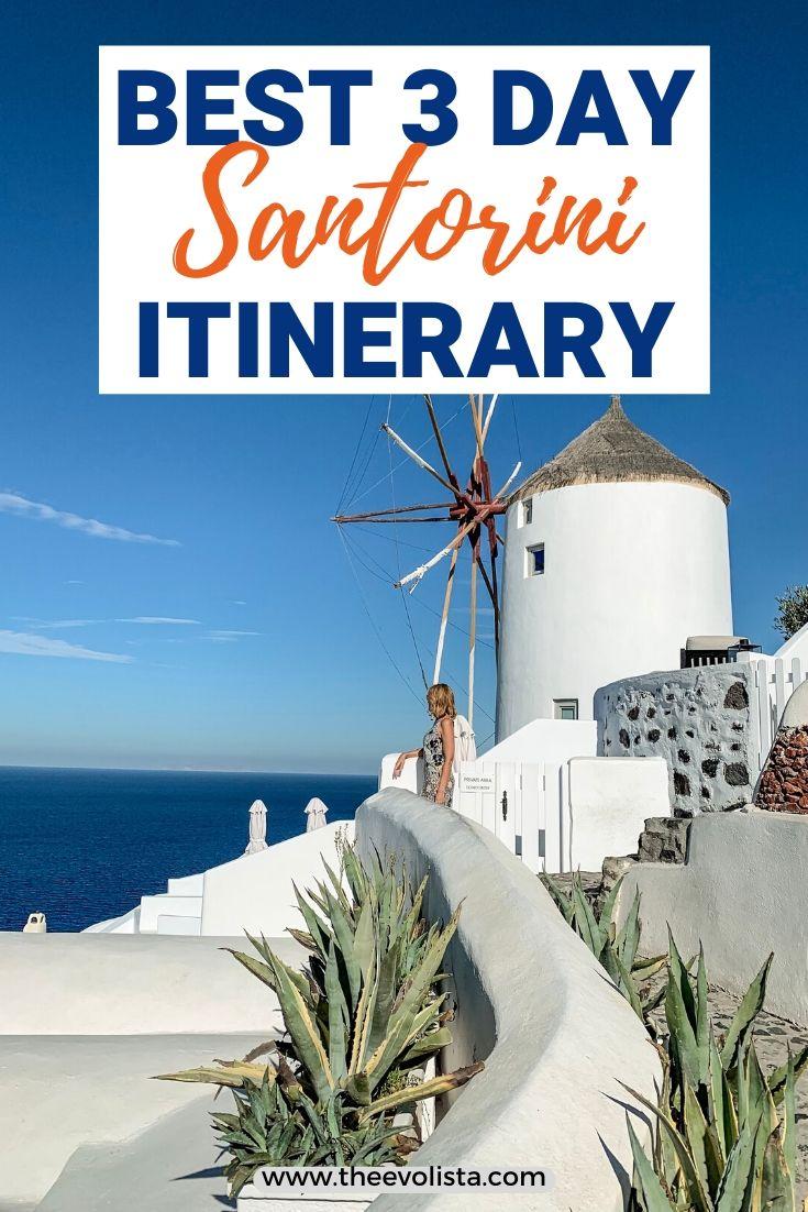 3 Days in Santorini Pin2
