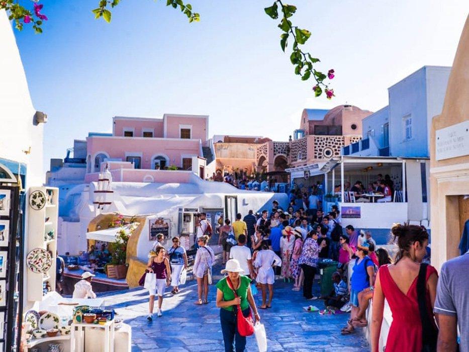Santorini shopping