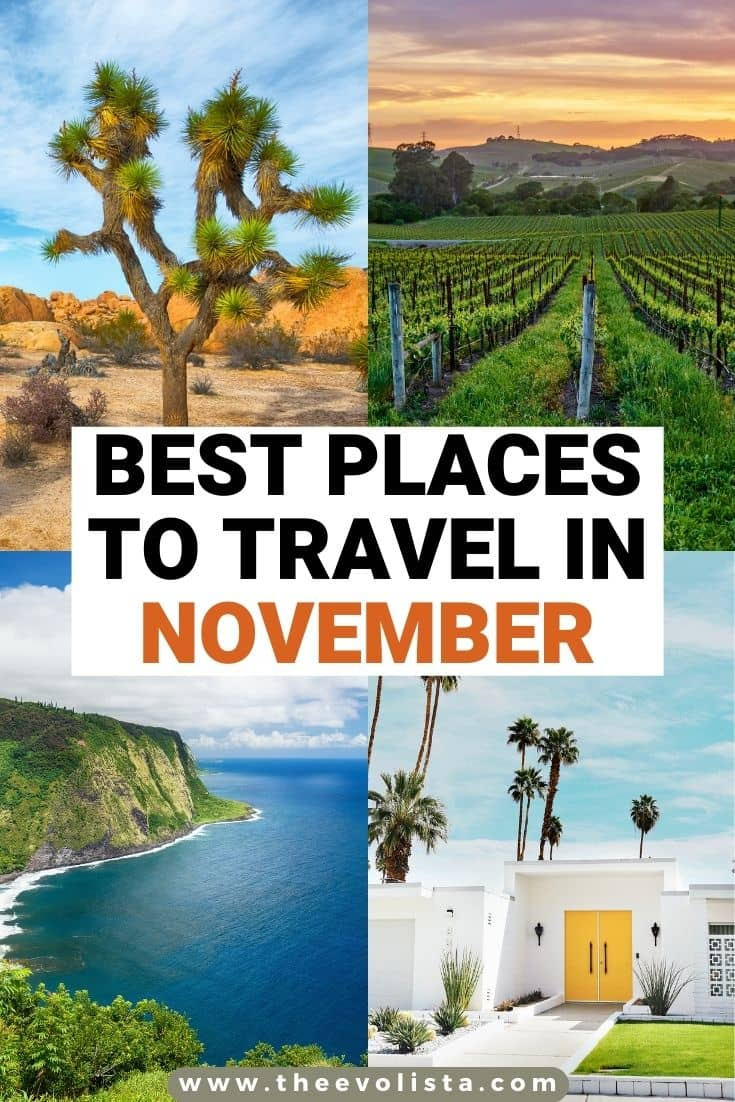 Best Places to Travel in November Pin