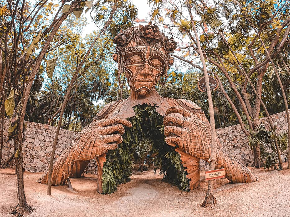 Tulum Travel Guide Statue