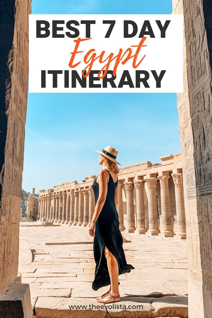 7 Day Egypt Itinerary Pin