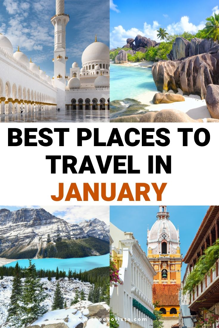 Best Places to Travel in January Pin