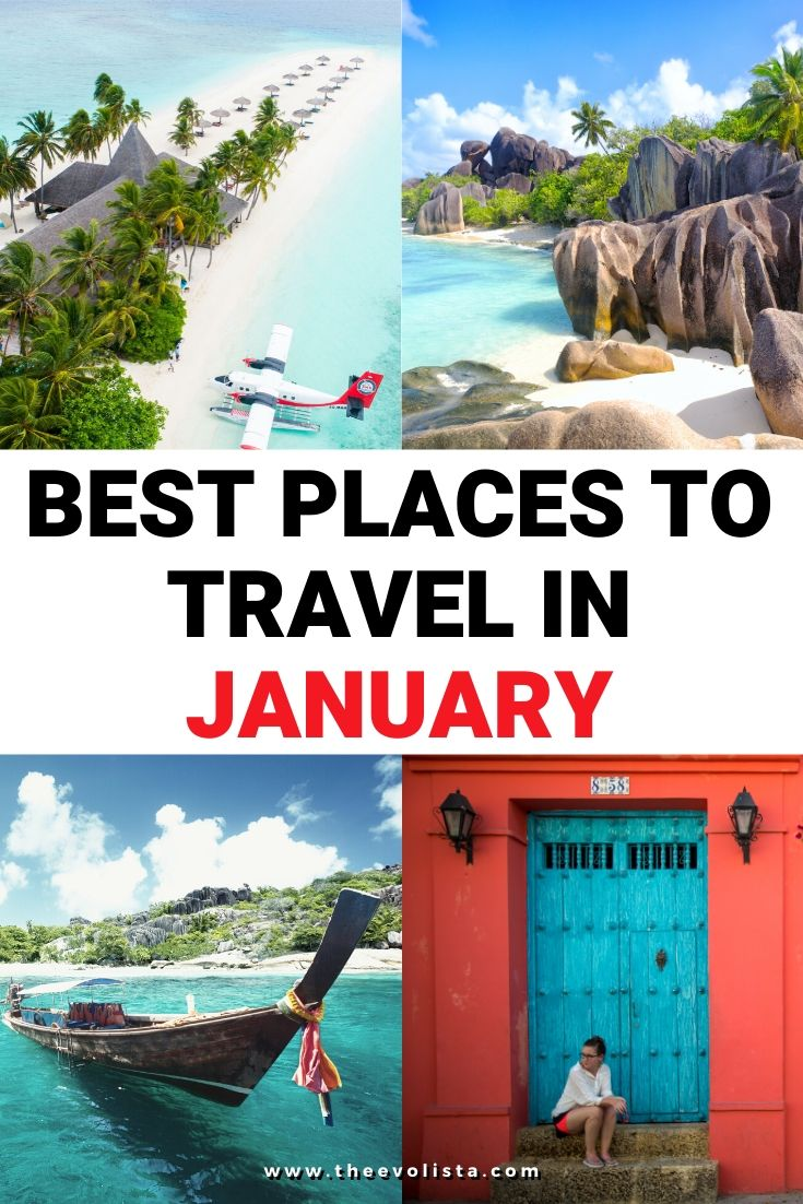 Best Places to Visit in January Pin