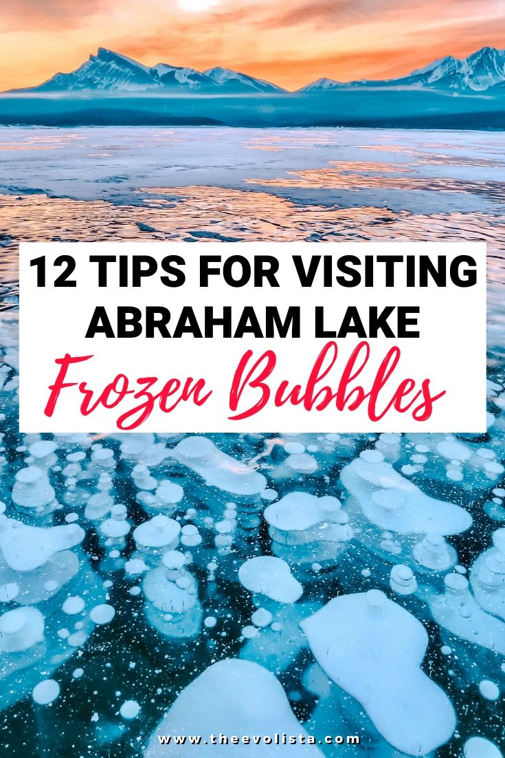 Abraham Lake Ice Bubbles Pin