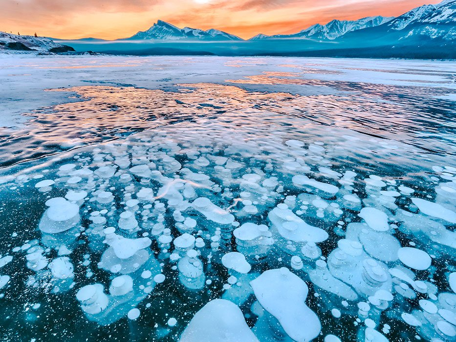 Abraham Lake Alberta Ice Bubbles