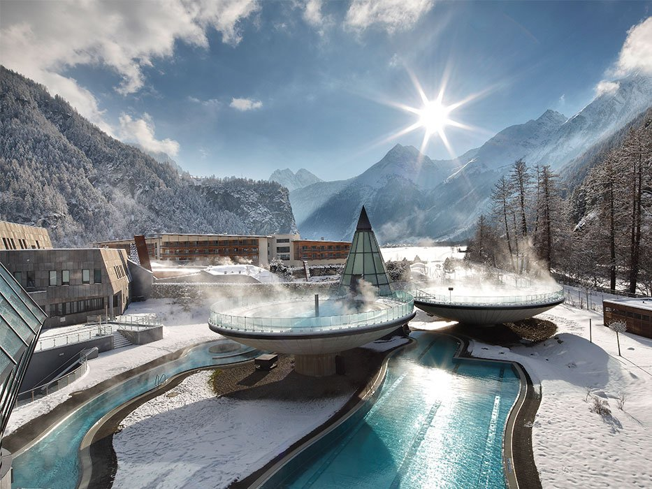 Best Places to Travel in February Aqua Dome Austria