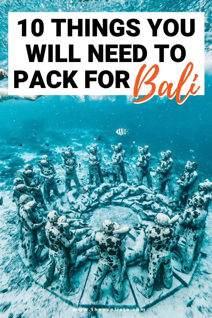 Bali Packing List Pin