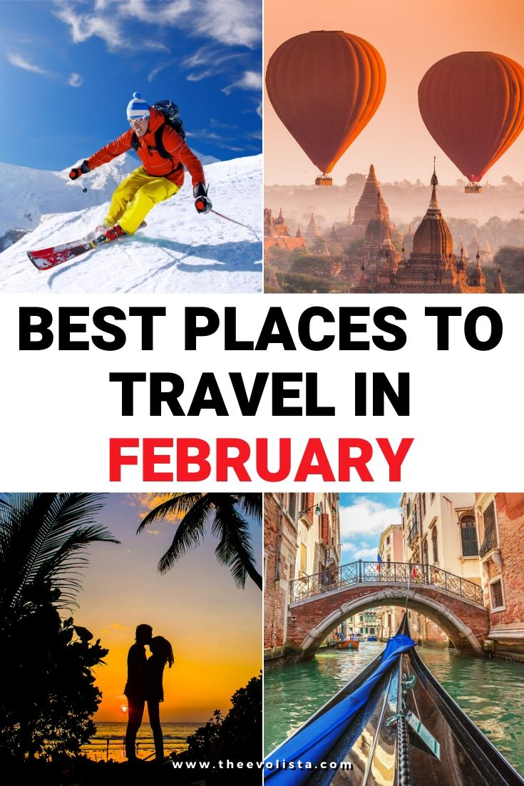 Best Places to Travel in February Pin