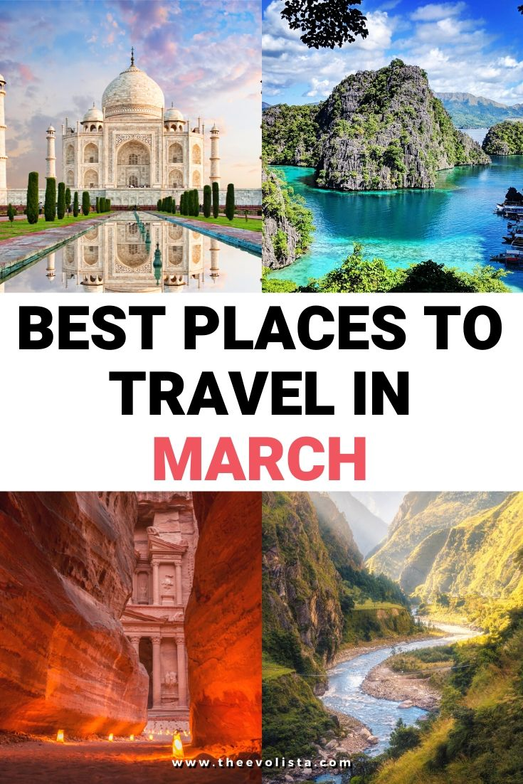 Best Places to Travel in March Pin