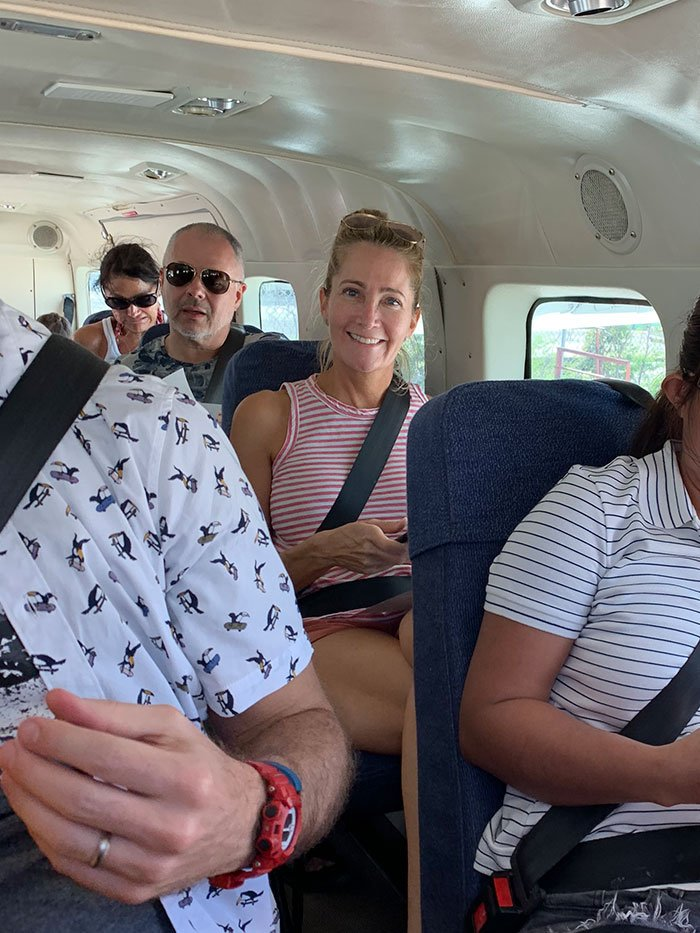 Great Blue Hole Plane Passenger