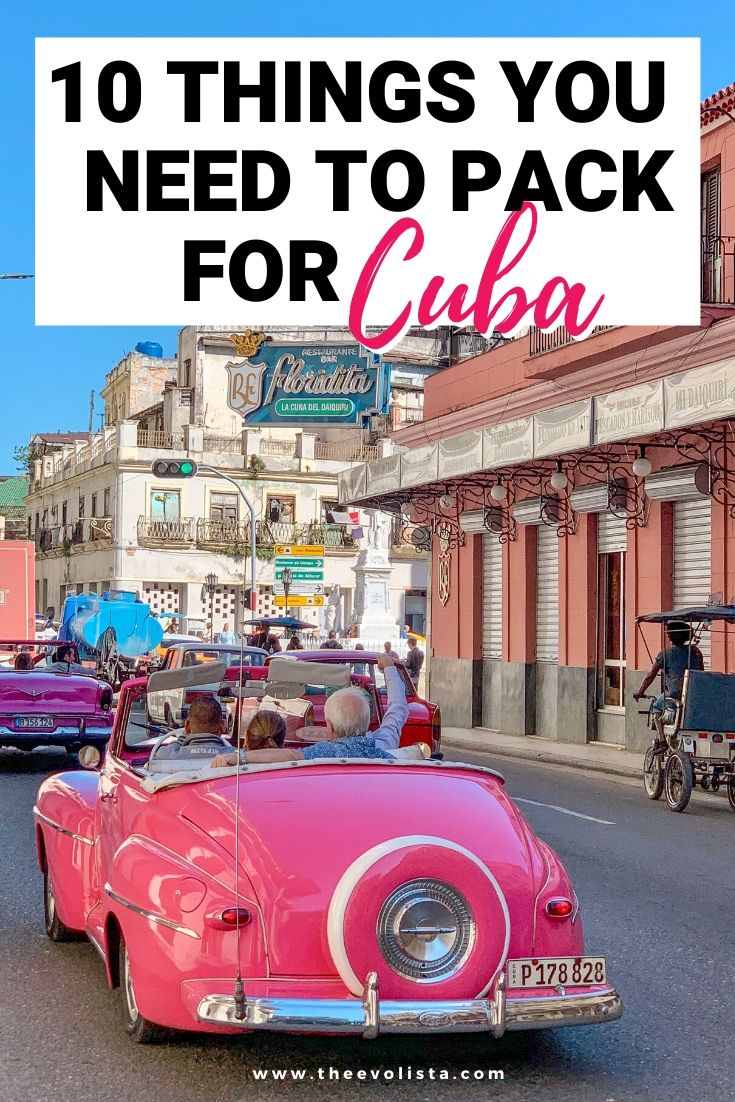 What to Bring to Cuba Pin
