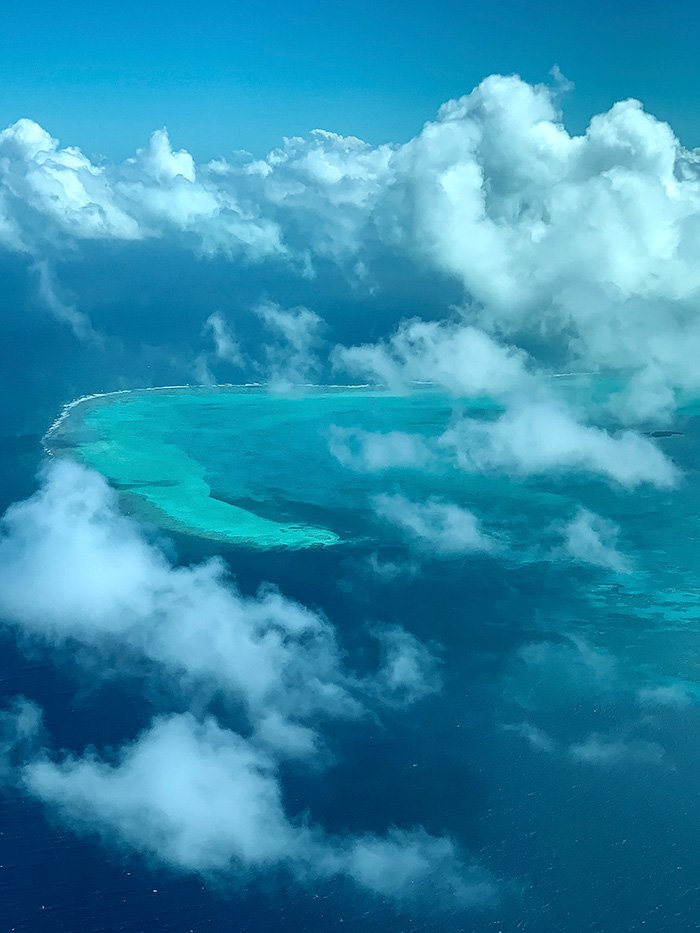 Turneffe Atoll from Tropic Air Belize Flight