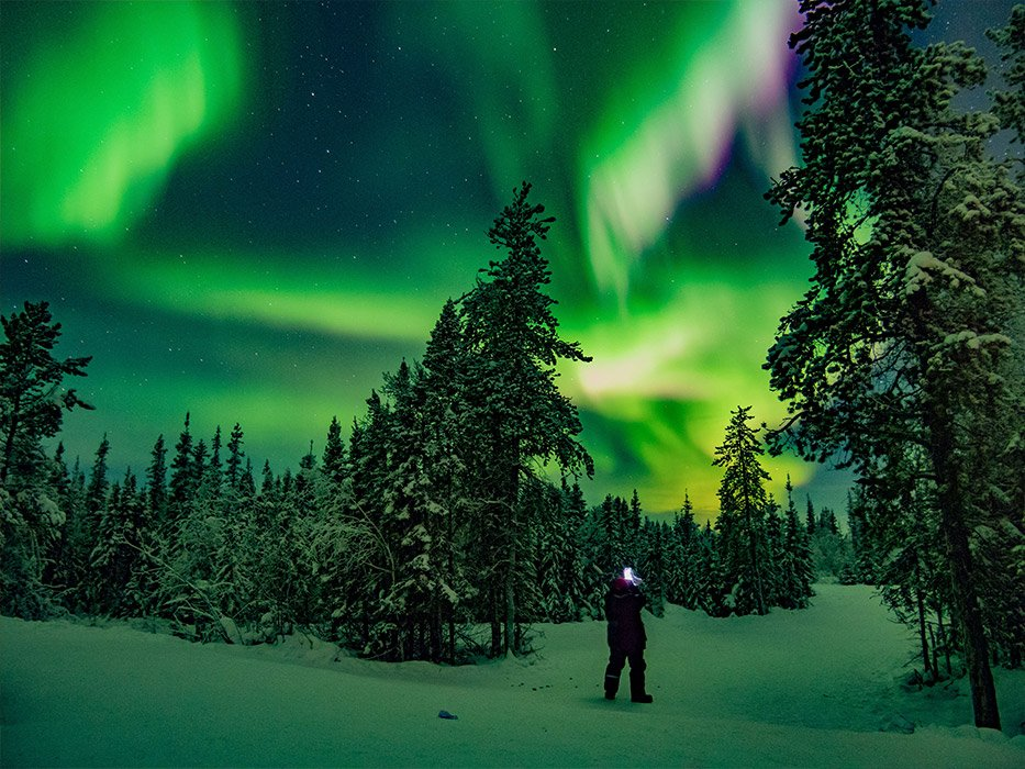 Yellowknife Northern Lights March