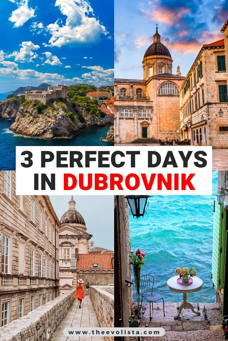 3 Days in Dubrovnik Pin