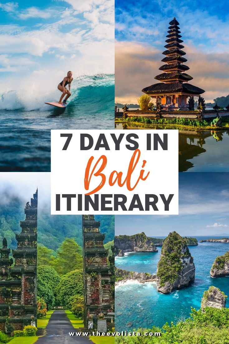 7 Days in Bali Itinerary Pin