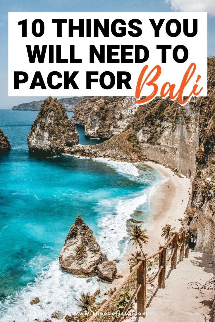 Bali Packing List Nusa Penida