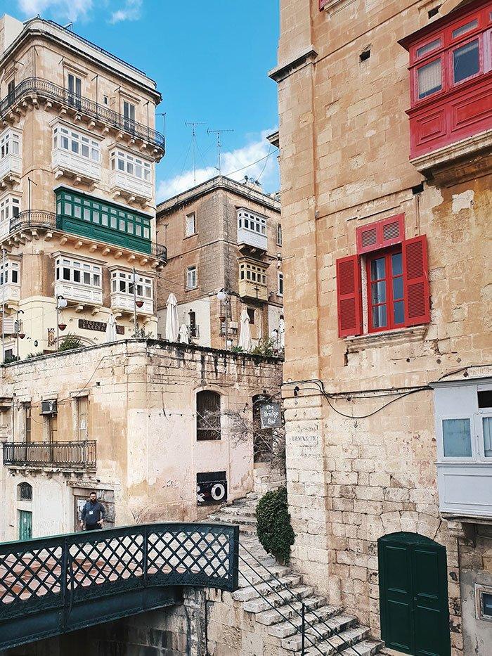 Malta colorful buildings