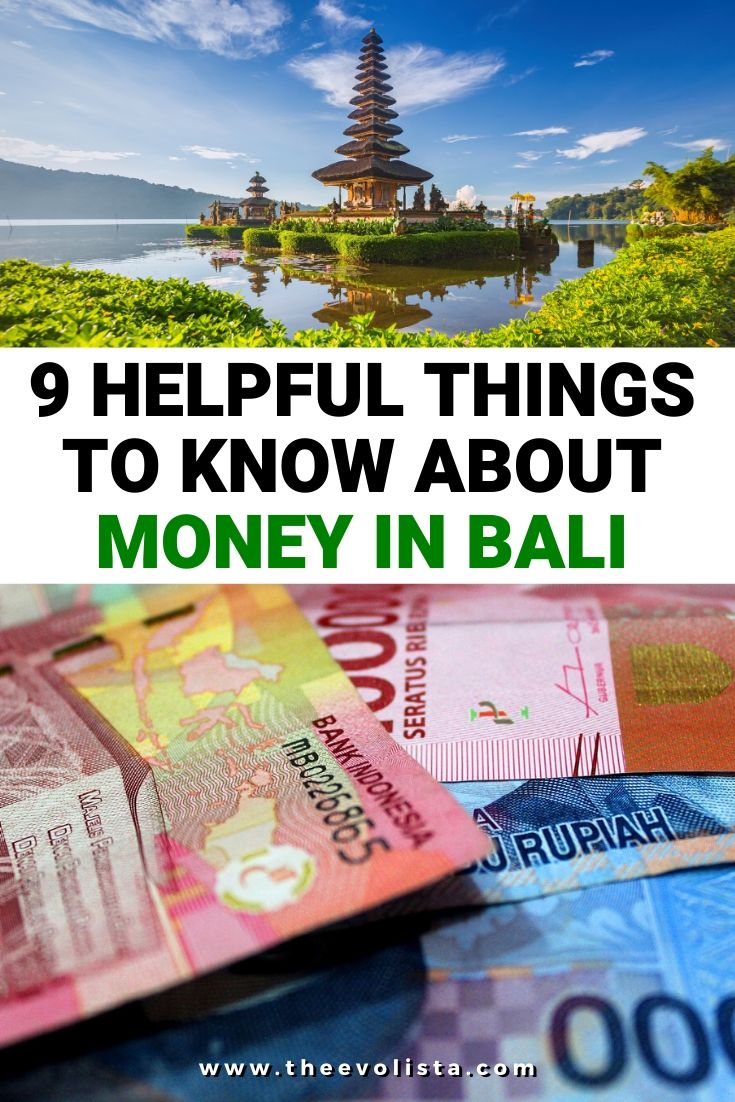 Money in Bali Pin