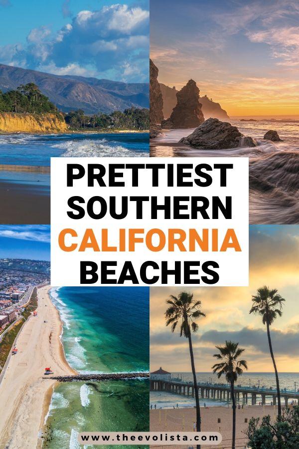 Prettiest Beaches in Southern California Pin