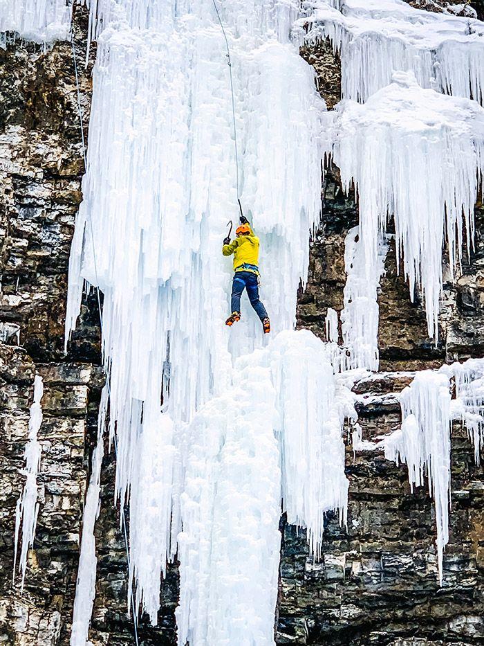 Johnston Canyon Ice Climber