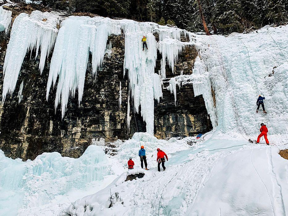 Johnston Canyon Winter Ice Climbing
