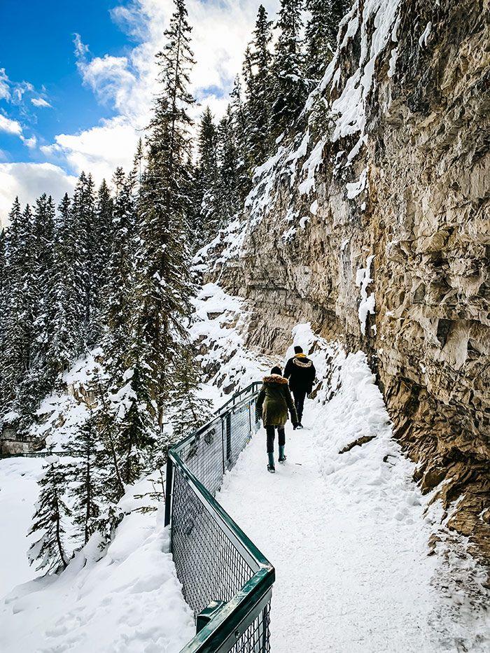 Johnston Canyon Winter Trail