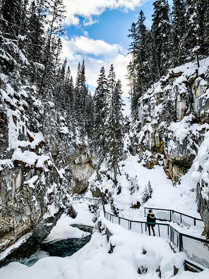 Johnston Canyon in Winter