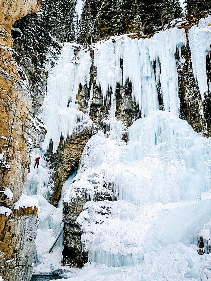 Johnston Canyon Upper Falls Climber