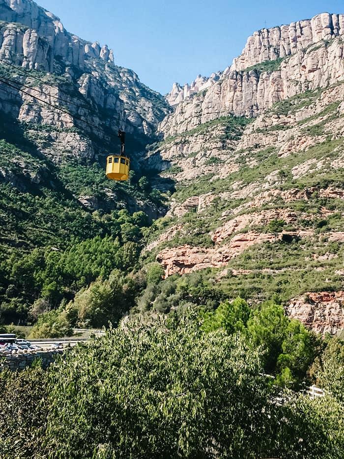 Montserrat Cable Car View