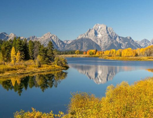 Grand Tetons Fall foliage USA Trip Ideas