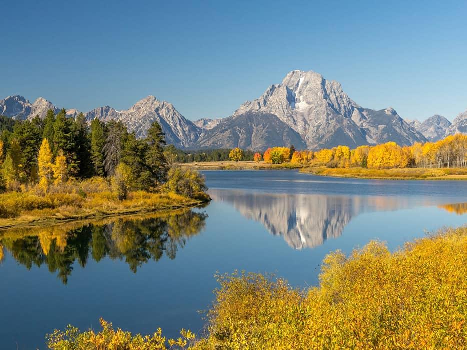Grand Tetons Fall foliage USA Trip Ideas