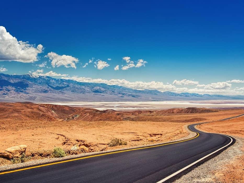 Death Valley California in December