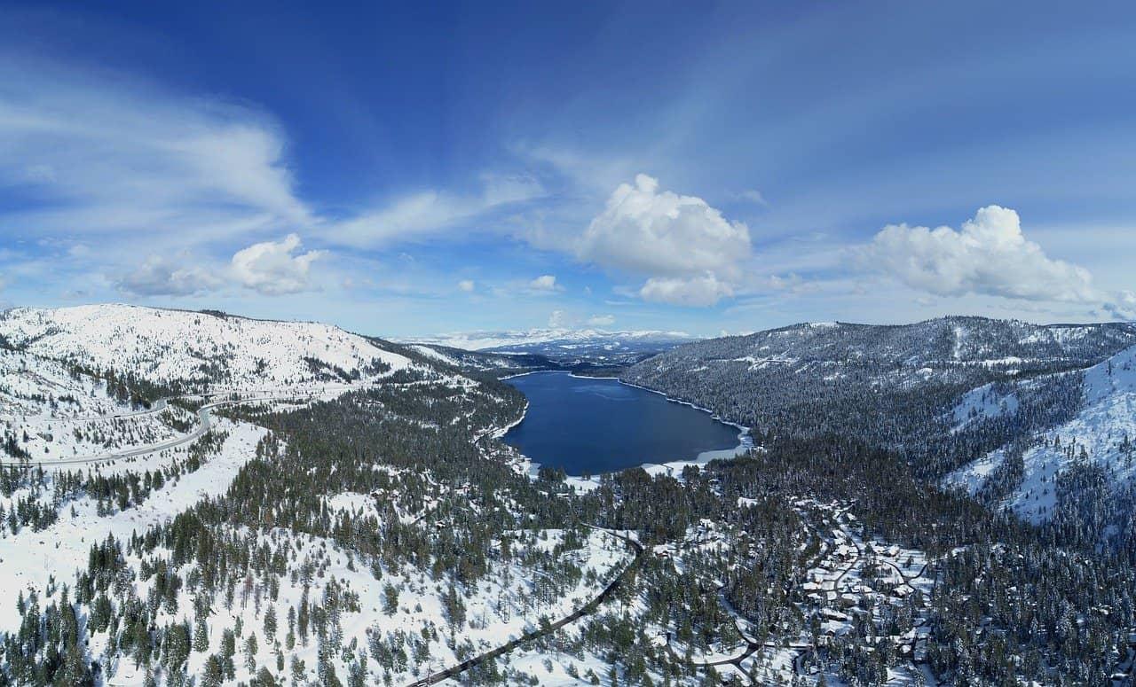 Lake Tahoe California in December