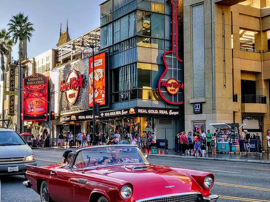 Hollywood Blvd Scenic drives in Los Angeles